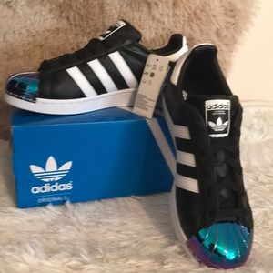 check out 52786 8bf55 adidas Shoes - Final⚡️Adidas SUPERSTAR MT W iridescent toe Sz 8
